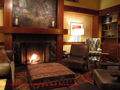 the Library in the Salish Lodge at Snoqualmie Falls  salishlodge.com
