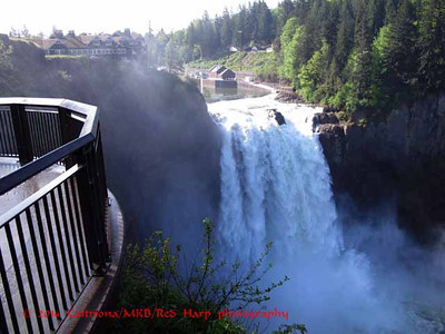 View of Snoqualmie Falls from a new viewing platforn