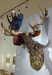 """Eternal Vigilance"" 1983 by Sherry Markovitz; made of paper-mache, beads, oil paint, sequins, acrylic paint and fiberglass"