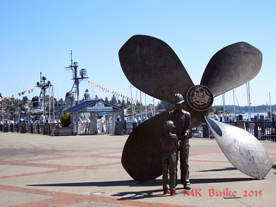 Memorial for the 100th Anniversary of the Puget Sound Naval Shipyard 1891-1991   USS Turner Joy in the background