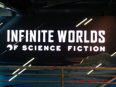 Infinite Worlds exhibit of Sci Fi movie and TV props and costumes.