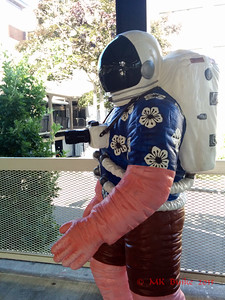 Space Tourist by Peter Reiquam at the Monorail Station, Seattle Center