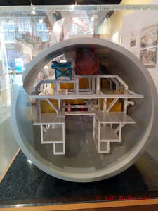 Exhibit about the Big Bertha (stuck) tunneling machine