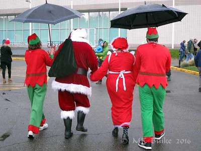 the elves protect them from the rain