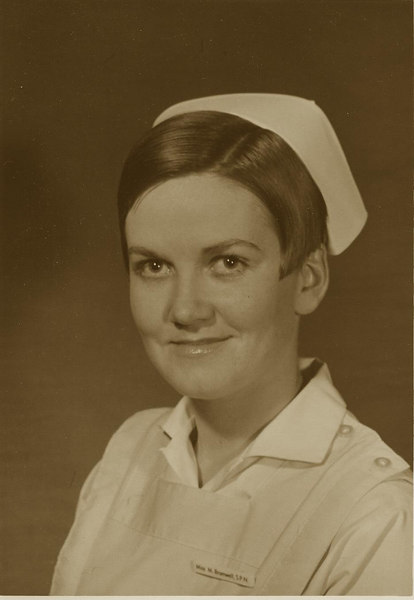 Marvel age 19, student nurse.