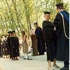 My friend, Bonnie Landers getting degree, I am next. Southern Oregon University.