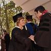 Marvel recieving her BSN & BS, graduating cum laude.