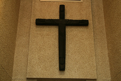 This cross survived a fire that burned down the first Lutheran Church on the west coast in Sitka, Alaska.