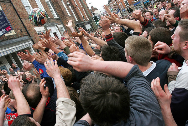 Shrovetide Football match, Ashbourne, Derbyshire