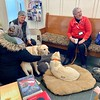 The Alliance of Therapy Dogs brought two therapy dogs, (left to right) Butterscotch Sunday (Scotch) and Professor, for community members to interact with.