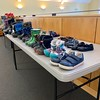 Clean shoes were made available for community members in attendance.