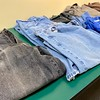Clean, warm clothing were made available for community members to take home.