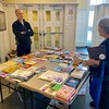 Community members could choose from a variety of free books that were made available during the MLK Day of Service activity.