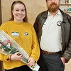 """Left to right, Game Loft AmeriCorps Program members Thalia Sweeney and Brian Phelps at The Game Loft's """"Emergency Preparedness for a Zombie Apocalypse"""" MLK Day of Service project."""