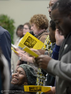 Members of the community come together during the Martin Luther King Jr. day celebration at the Southside Community Center in Oroville, Calif. Mon. Jan. 15, 2018. (Bill Husa -- Enterprise-Record)