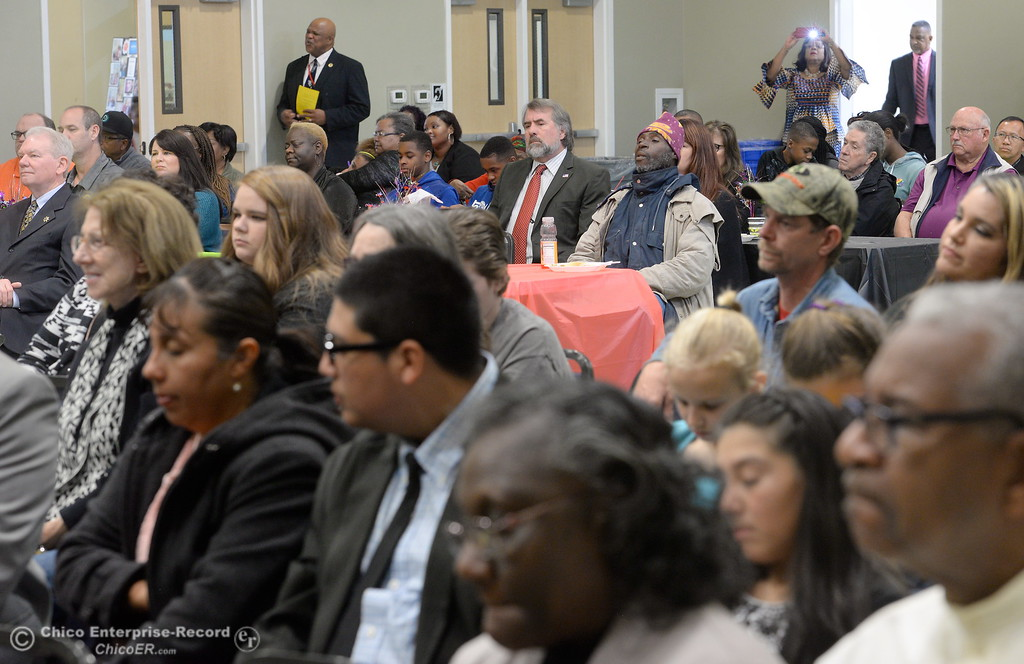 . during the Martin Luther King Jr. day celebration at the Southside Community Center in Oroville, Calif. Mon. Jan. 15, 2018. (Bill Husa -- Enterprise-Record)