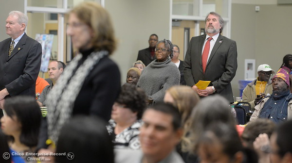Elected officials in attendance are asked to stand and be recognized during the Martin Luther King Jr. day celebration at the Southside Community Center in Oroville, Calif. Mon. Jan. 15, 2018. (Bill Husa -- Enterprise-Record)