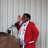Keynote Speaker Rev. Dr. Sandras Barnes offered her view the MLK Jr. celebration at Leominster's First Church on Monday. SENTINEL & ENTERPRISE/JIM FAY