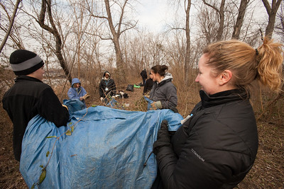 MLK Day 2009 - Student Conservation Association - Kingman Island Cleanup