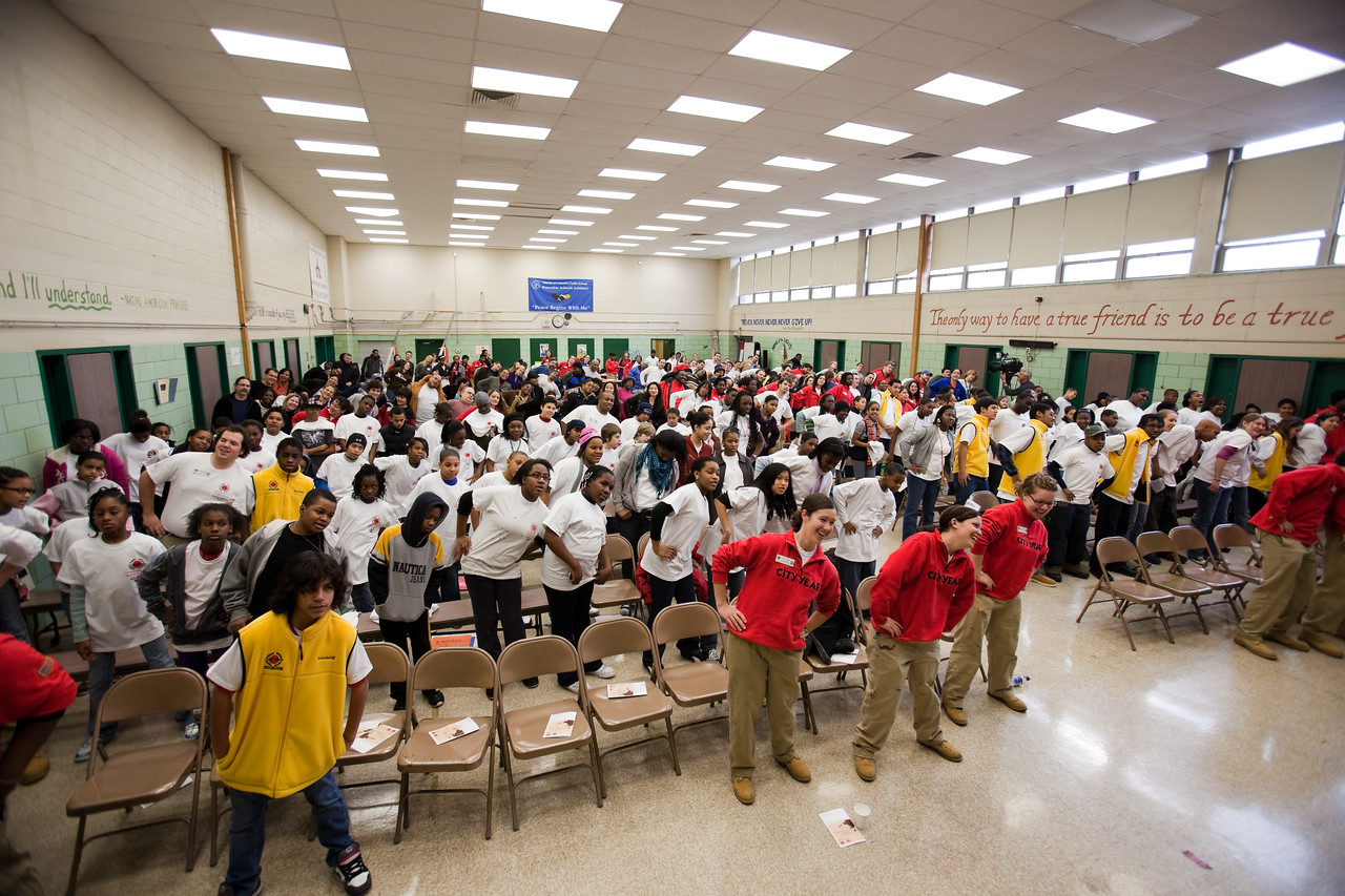 MLK Day 2009 - City Year - Emery Elementary School