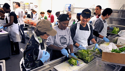 On January 18, 2010, VA Secretary Eric K. Shinseki and his wife Patricia observed Martin Luther King Day and the National Day of Service with other volunteers at the D.C. Central Kitchen, a non-profit organization involved in job training and food distribution, which fights hunger, poverty and homelessness in the national's capital.