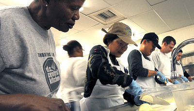 On January 18, 2010, VA Secretary Eric K Shinseki and his wife Patricia observed Martin Luther King Day and the National Day of Service with other volunteers at the D.C. Central Kitchen, a non-profit organization involved in job training and food distribution which fights hunger, poverty and homelessness in the national's capital.