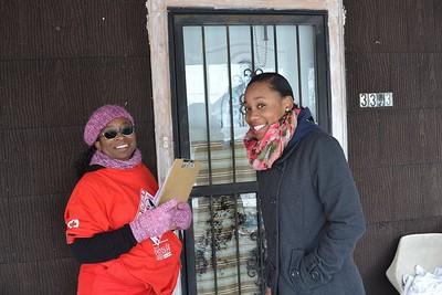 Hope Worldwide volunteers reached over 86,000 households in Cincinnati, Ohio with information about fire safety on MLK Day 2014.