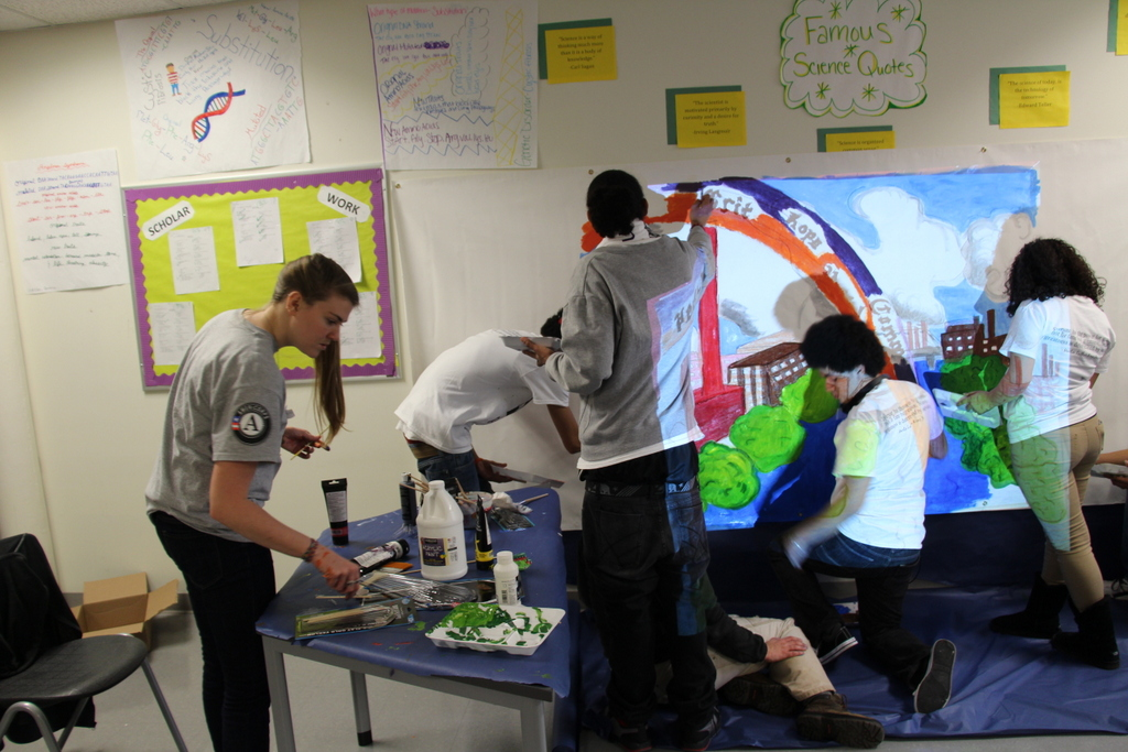 MassLIFT AmeriCorps members participated in a Day of Service and Reflection organized by AmeriCorps Fellows at Phoenix Charter Academy in Lawrence, MA on MLK Day 2014.