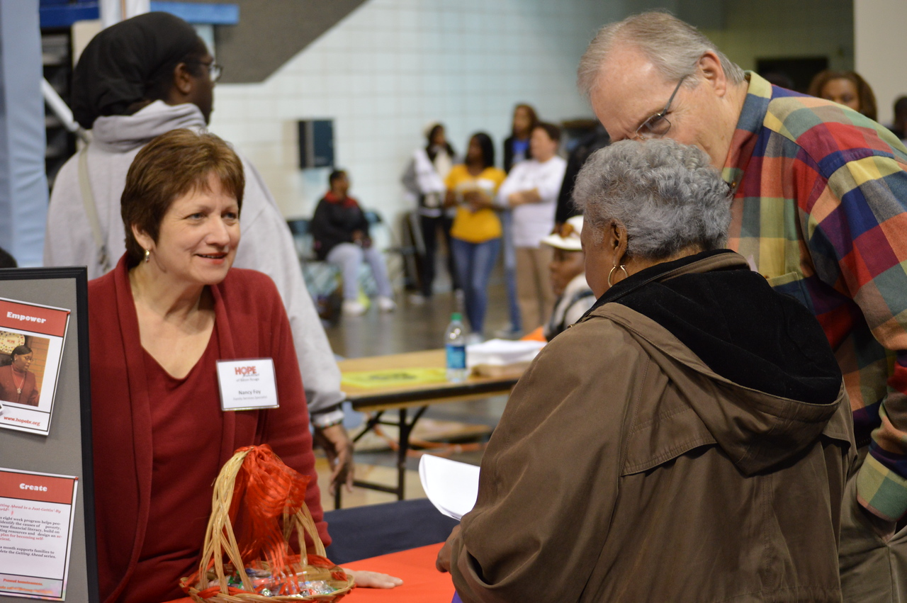 Volunteers at the Capital Area United Way service event in Baton Rouge, LA on MLK Day 2014.