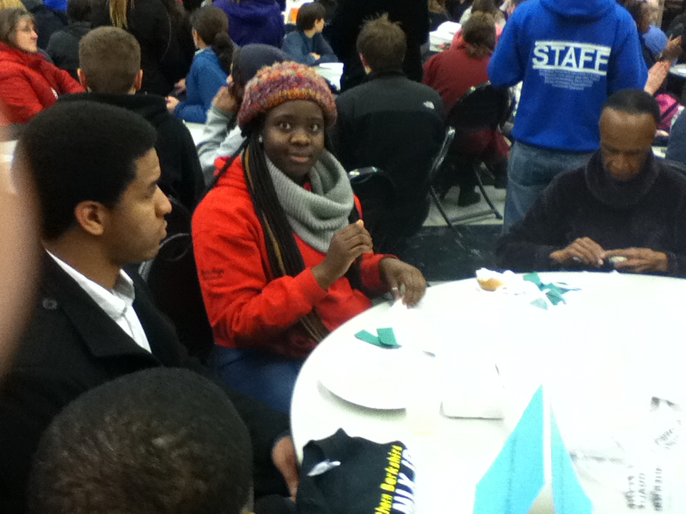 Volunteers serve at Massachusetts College of Liberal Arts MLK Day 2014. Corporation for National and Community Service Photo.