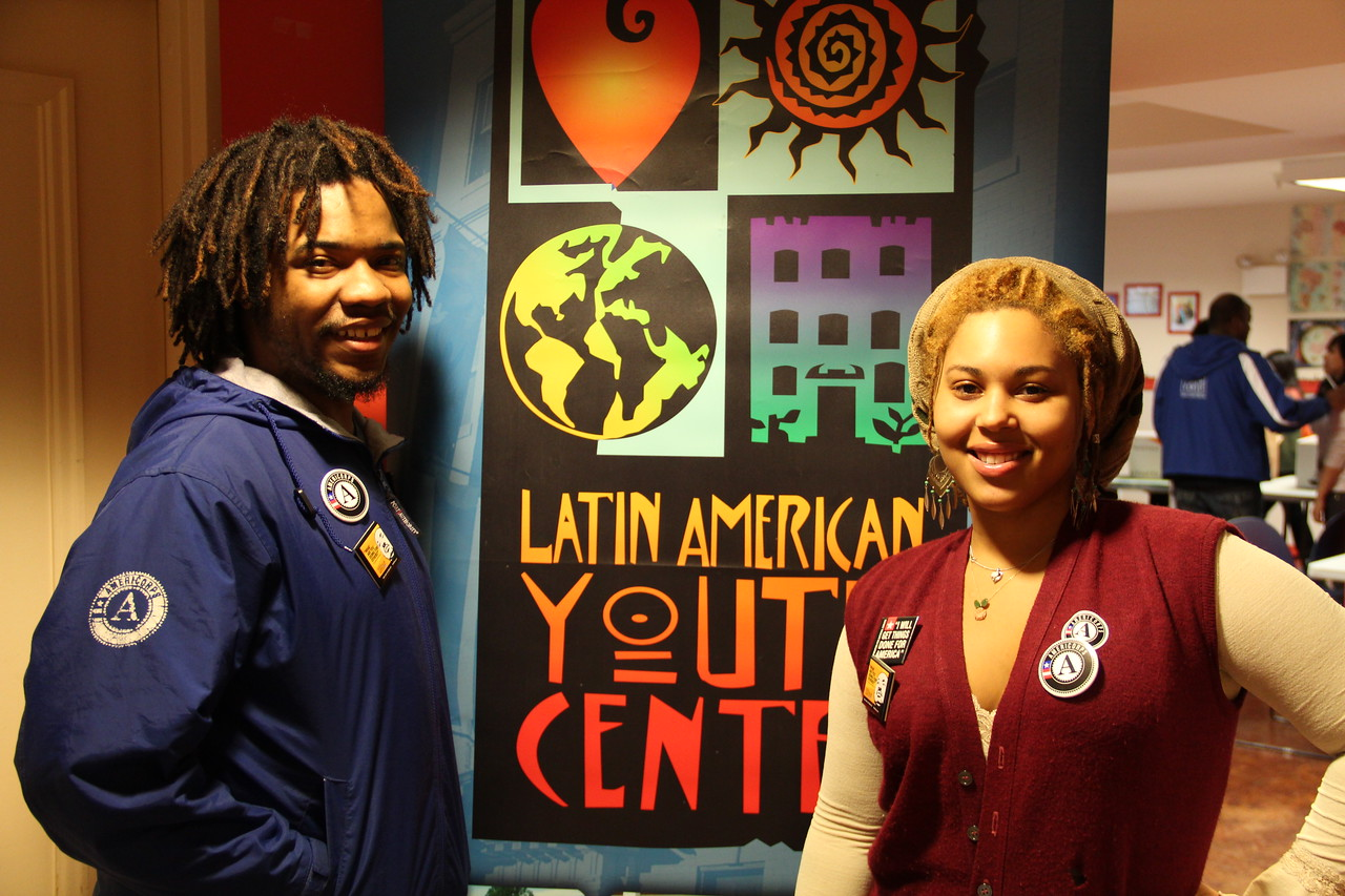 AmeriCorps members at the Latin American Youth Center in Washington, D.C. on MLK Day 2014. Corporation for National and Community Service Photo.
