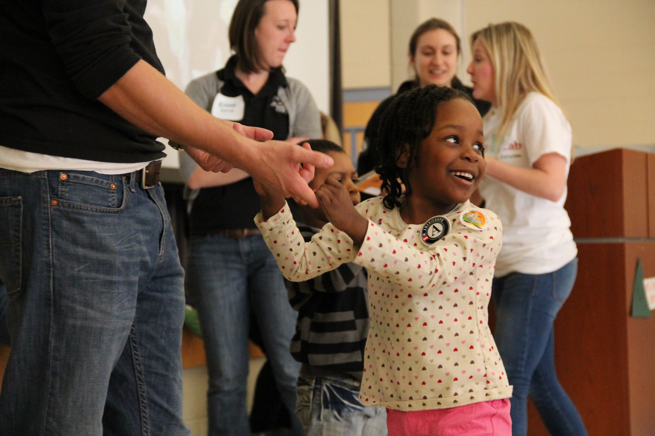 A young child dances on MLK Day 2014. Corporation for National and Community Service Photo.