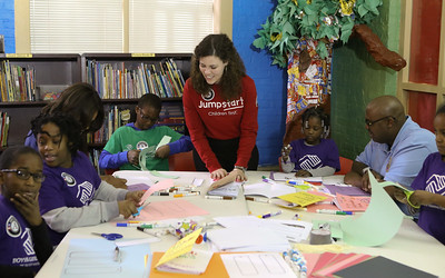 AmeriCorps members serve at a Boys & Girls Club of Greater Washington to celebrate MLK Day of Service. Corporation for National and Community Service photo.