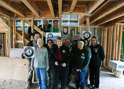 EPA Administrator Gina McCarthy and CNCS CEO Wendy Spencer serve alongside AmeriCorps members at a Habitat for Humanity Build in Washington, D.C. Corporation for National and Community Service photo.
