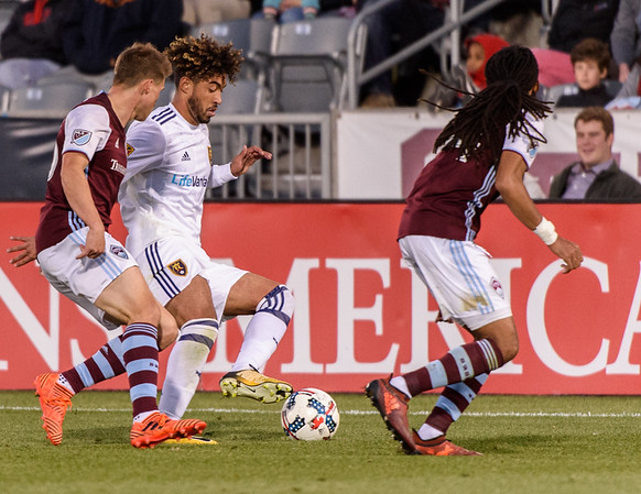 The MLS Western Conference soccer game between the Colorado Rapids and Real Salt Lake at Dick's Sporting Goods Park in Commerce City, Colorado.   Final score of the game was the Colorado Rapids - 1 and Real Salt Lake - 0.