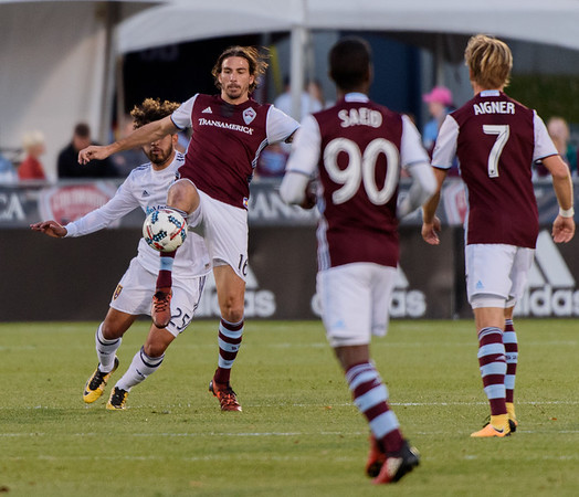 The MLS Western Conference soccer game between the Colorado Rapids and Real Salt Lake at Dick's Sporting Goods Park in Commerce City, Colorado.   Final score of the game was the Colorado Rapids -  and Real Salt Lake - .