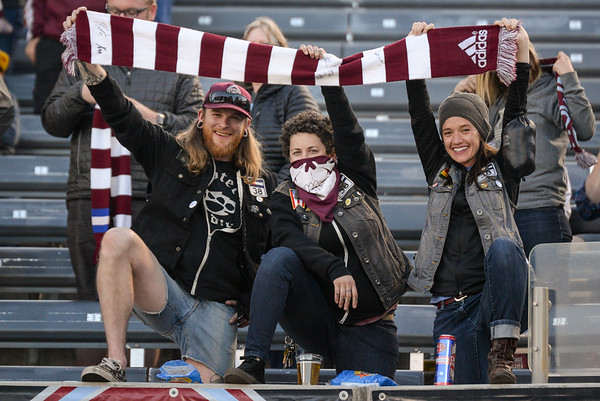 The MLS Western Conference soccer game between the Colorado Rapids and Real Salt Lake at Dick's Sporting Goods Park in Commerce City, Colorado on April 15, 2017.  Final score of the game was the Colorado Rapids - 1 and Real Salt Lake - 2.