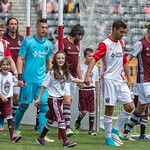 The MLS Western Conference soccer game between the Colorado Rapids and the San Jose Earthquakes at Dick's Sporting Goods Park in Commerce City, Colorado on May 13 2017.  Final score of the game was the Colorado Rapids - 3 and the San Jose Earthquake - 0.