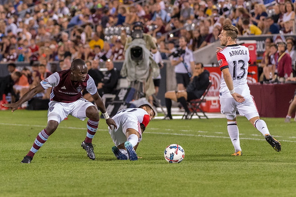 The MLS Western Conference soccer game between the Colorado Rapids and D.C. United at Dick's Sporting Goods Park in Commerce City, Colorado.   Final score of the game was the Colorado Rapids - 0 and D.C. United - 1.