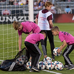 The MLS Western Conference soccer game between the Colorado Rapids and the Vancouver Whitecaps FC at Dick's Sporting Goods Park in Commerce City, Colorado on May 5, 2017.  Final score of the game was the Colorado Rapids - 0 and the Vancouver Whitecaps - 1 .