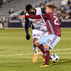 The MLS Western Conference soccer game between the Colorado Rapids and the  Philadelphia Union at Dick's Sporting Goods Park in Commerce City, Colorado on March 31, 2018.  Final score of the game was the Colorado Rapids - 3 and the Phiadelphia Union - 0.