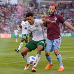 MLS Conference soccer game between the Colorado Rapids and the Portland Timbers at Dick's Sporting Goods Park in Commerce City, Colorado on May 26, 2018.   Final score of the game was the Portland Timbers - 3 and the Colorado Rapids - 2.