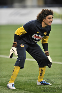 17 July 2010:   Club America #1 Goal Keeper Ochoa Guilleruo in action during the MLS Club America vs. San Luis FC game at Cowboys Stadium in Arlington, TX. Mandatory Credit: Manny Flores/Southcreek Global