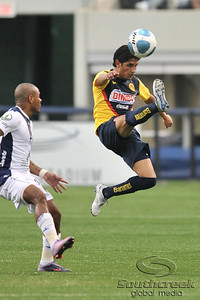 17 July 2010:   Club America #18 Reyna Angel controls the ball during the MLS Club America vs. San Luis FC game at Cowboys Stadium in Arlington, TX. Mandatory Credit: Manny Flores/Southcreek Global