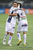 17 July 2010:  <br /> San Luis #21 Victor Lojero celebrates with teammate #20 Osmar Meres after he scores a goal during the MLS Club America vs. San Luis FC game at Cowboys Stadium in Arlington, TX. Mandatory Credit: Manny Flores/Southcreek Global