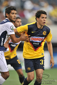 17 July 2010:   Club America #33 Trevino Patricio gets in position during the MLS Club America vs. San Luis FC game at Cowboys Stadium in Arlington, TX. Mandatory Credit: Manny Flores/Southcreek Global