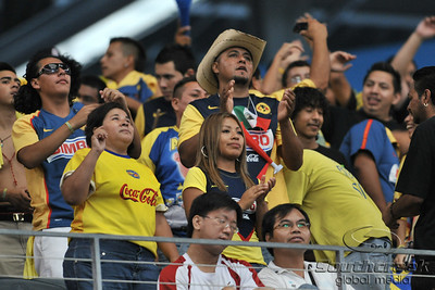 17 July 2010:   Club America fans in action during the MLS Club America vs. San Luis FC game at Cowboys Stadium in Arlington, TX. Mandatory Credit: Manny Flores/Southcreek Global