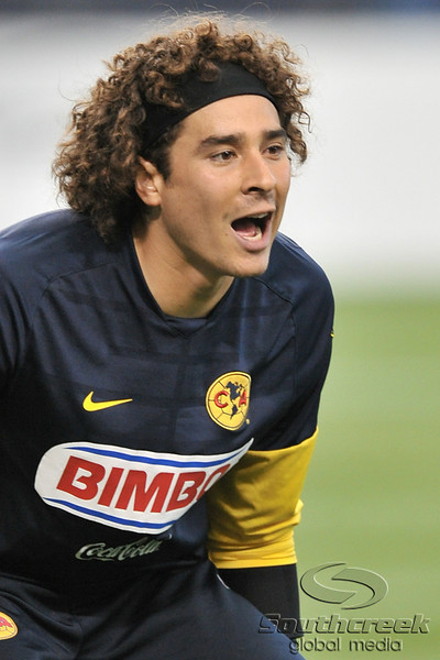 17 July 2010:  <br /> Club America #1 Goal Keeper Ochoa Guilleruo in action<br /> during the MLS Club America vs. San Luis FC game at Cowboys Stadium in Arlington, TX. Mandatory Credit: Manny Flores/Southcreek Global