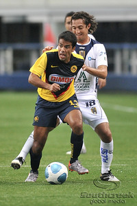 17 July 2010:   Club America #13 Pardo Pavel fights for a loose ball during the MLS Club America vs. San Luis FC game at Cowboys Stadium in Arlington, TX. Mandatory Credit: Manny Flores/Southcreek Global