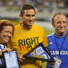 July 26 2009 World Football Challenge - Chelsea FC v Club America:<br />  #8 Frank Lampard of FC receives Player of the Year Award at the Cowboys Stadium in Arlington, Texas.<br /> Chelsa FC beats Club America 2-0.